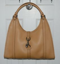 GUCCI Bardot Leather Bag Medium Made in Italy Light Brown NWOT