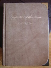 Leather bound CARP SIDE OF THE MOON Pete Springate Fishing Book Redmire Pool