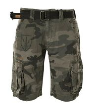 New AFFLICTION Brand Men's Casual Fashion The Great General  Camo Cargo Shorts