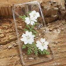 Pressed flowers for iphone 5 5s 5c 6 6s 7 plus samsung case cover white