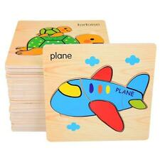 8 pcs babies kid toy building wooden puzzle early education smart 3d jigsaw