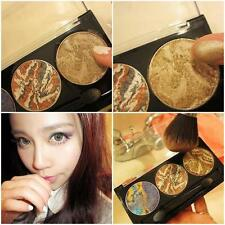 3 Color Pro Nude Eyeshadow Palette Makeup Matte 3D Glitter EyeShadow With Brush;