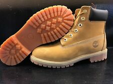 "JUNIOR TIMBERLAND 6"" PREMIUM WATERPROOF BOOTS 12909 WHEAT NUBUCK 100% AUTHENTIC"