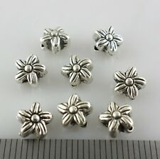 40/80/600pcs Tibetan Silver Flower Spacer Beads Crafts Jewelry Findings 5x6mm