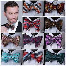 Check Dot Paisley Silk Jacquard Men Classic Wedding Self Bow Tie BowTie #B9