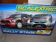 SCALEXTRIC C1295 RALLY STAGE 1/32 BOX SET NEW BOXED