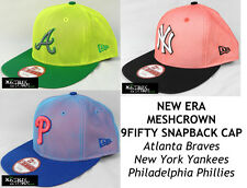 NEW ERA MLB MESHCROWN 9FIFTY A FRAME SNAPBACK CAP - Braves/Yankees/Phillies