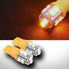 2 YELLOW T10 WEDGE 3528 10 COUNT SMD LED LIGHT BULB LAMP 184 447 464 555 558 585