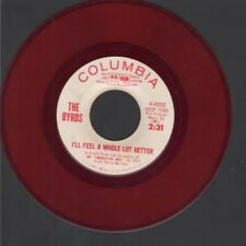 """BYRDS Feel A Whole Lot Better 7"""" VINYL US Columbia 1965 Red Vinyl Radio Station"""