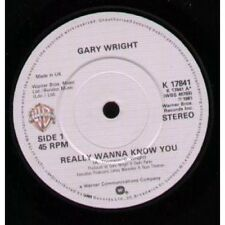 "GARY WRIGHT Really Wanna Know You 7"" VINYL UK Warner Bros 1981 B/W More Than A"
