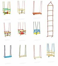 Swing rope ladder toddler wooden swing climbing swings Garden outdoor toy
