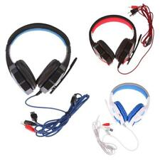 Wired Headphones with Microphone Adjustable Over Ear Gaming Headset Earphone
