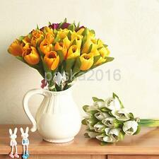 Elegant Artificial 12-Head Silk Flower Tulip Bouquet Wedding Party Decor 6 Color
