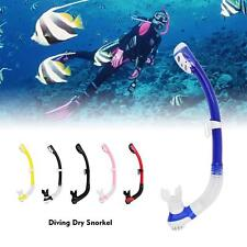 Dry Snorkel Scuba Diving Snorkels Spearfishing Snorkel Tube with Silicone W1M9