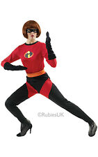 Adult Disney Mrs Incredible Costume Helen Parr Ladies Fancy Dress Outfit
