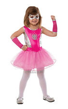 Kids Superhero Pink Spidergirl Girls Fancy Dress Childs Costume Party Outfit