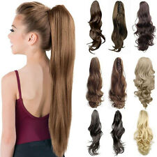 Real Thick Ponytail Clip in Hair Extension Jaw  Claw Pony tail Hair Piece As Hum