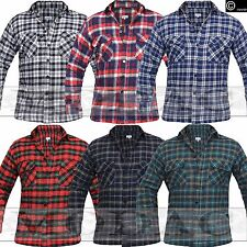 MENS FLANNEL CHECK SHIRT LUMBERJACK BRUSHED COTTON WORK SHIRTS VINTAGE SCOTTISH