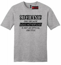 Mechanic Cuz Bad@ss MotherF**ker Funny Mens Soft T Shirt Car Dad Job Gift Tee Z2
