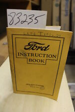 Ford Motor Company Ford Instruction Book