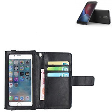 Wallet Case Cover f. lenovo Moto G (4. Gen.) black screen protector