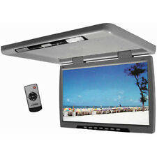 """Tview 24"""" Flip Down black TFT/LCD Monitor Remote Dual Dome Lights Gray T244IRGR"""
