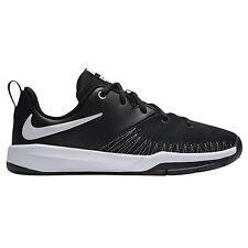 Nike Team Hustle D 7 Low Black White Basketball Kids Trainers