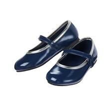 NWT Crazy 8 Toddler Girls Navy Blue Silver Mary Jane Shoes Size 6
