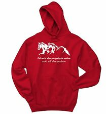 Ask Me To Show You Poetry Horses Sweatshirt Horse Lover Graphic Hoodie