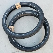 PAIR OF FIT BIKE CO BMX FAF 20 X 2.40 BICYCLE TIRES BLACK NIGHTVISION 110 PSI