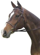 "Collegiate Square Raised Leather English Bridle with 5/8"" Wide Reins"