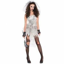 Deluxe DEAD Sexy Zombie Bride Ladies Halloween Fancy Dress Costume Party Outfit