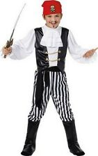 Kids Caribbean Buccaneer Pirate Boys Book Week Fancy Dress Costume Party Outfit
