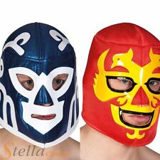 Adult Mens Mexican Wrestler Mask Lucha Libre WWE Fancy Dress Costume Accessory