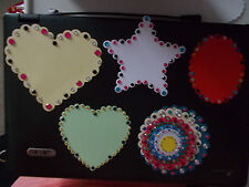 GREAT CHOICE!! VARIOUS HEARTS, STARS, OVALS etc WITH GEMS FOR ADDED SPARKLE!
