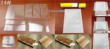 7pc Leathercraft Acrylic Perspex Long Wallet Template Stencil Tracing Paper Tool