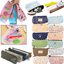 Luxury Zipper Stationery Gift Pencil Case Cosmetic Make Up Bag Pouch Pen Storage