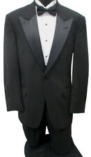 Black Tommy Hilfiger Tuxedo with Pants, Cummerbund, & Bow Tie Wedding Prom Mason