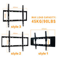 "NEW 23""-50"" LCD LED PLASMA FLAT TILT TV WALL MOUNT BRACKET 27 32 37 42 46 50 US"