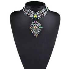 Gorgeous Jewelry Stone Crystal Bib Statement Chunky Choker Collar Short Necklace