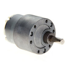 DC12V 30/60/120/200 RPM 37mm Powerful High Torque Gear Motor Speed Reduction NEW