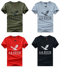 Mens Casual shirts Slim Fit o-neck/crew neck T-shirt Short Sleeve Muscle New vbv