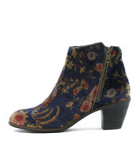 New I Love Billy Nolo Navy Print Womens Shoes Casual Boots Ankle