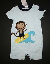 New Gymboree Outlet Surf Monkey Summer Outfit Romper Boys NWT 6m 12m 18m 24m