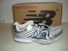 NEW BALANCE MENS MR805WS RUNNING SHOES -2E WIDTH- MADE IN USA-WHITE/SILVER/BLACK