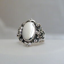 Victorian Scroll Poison Ring - 925 Sterling Silver, Sizes 6-10, Pillbox Ring NEW