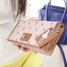 Women Synthetic Leather Wallet Lady Long Card Holder Handbag Bag Clutch Purse