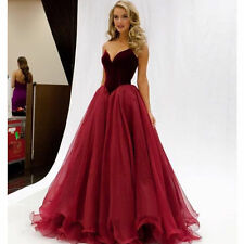 Red Long Formal Party Prom Dress Wedding Evening Ball Gown Bridesmaid Dresses