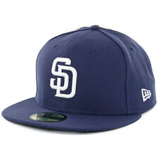 New Era San Diego SD Padres 2017 HOME 59Fifty Fitted Hat (Light Navy) MLB Cap