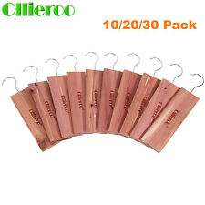 10/20/30 Pack Cedar Moth Repellent Hang Up Blocks for Wardrobe Clothes Drawers